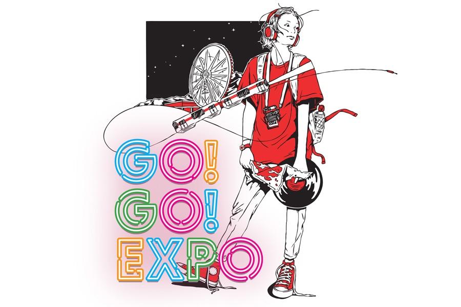 なにわ男子によるライブステージのほか、「太陽の塔」を彩る3Dマッピングや、園内を照らす光のイルミネーションも予定されていた『GO!GO!EXPO』