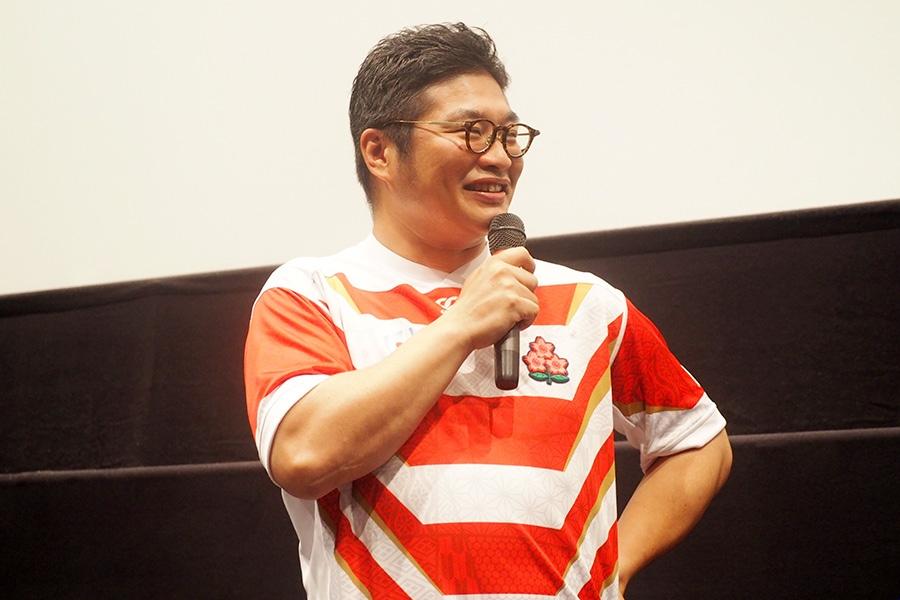 『京都国際映画祭2019』に登場した俳優・松尾諭(19日・京都市内)