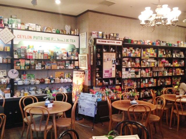 ビルに移転した当時の店内。多くの紅茶ファンが足を運んだ 提供:MUSICA TEA