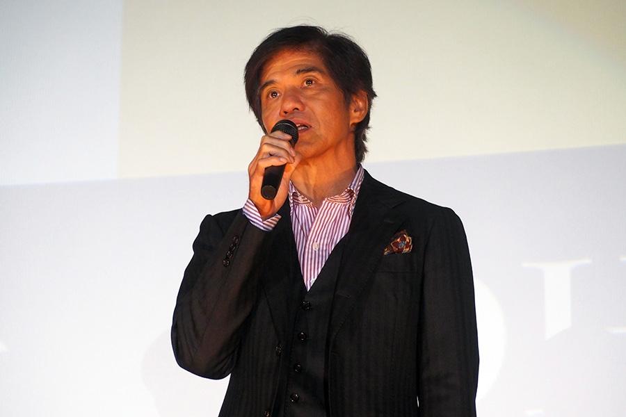 映画『楽園』の舞台挨拶に登壇した俳優・佐藤浩市(9日・大阪市内)