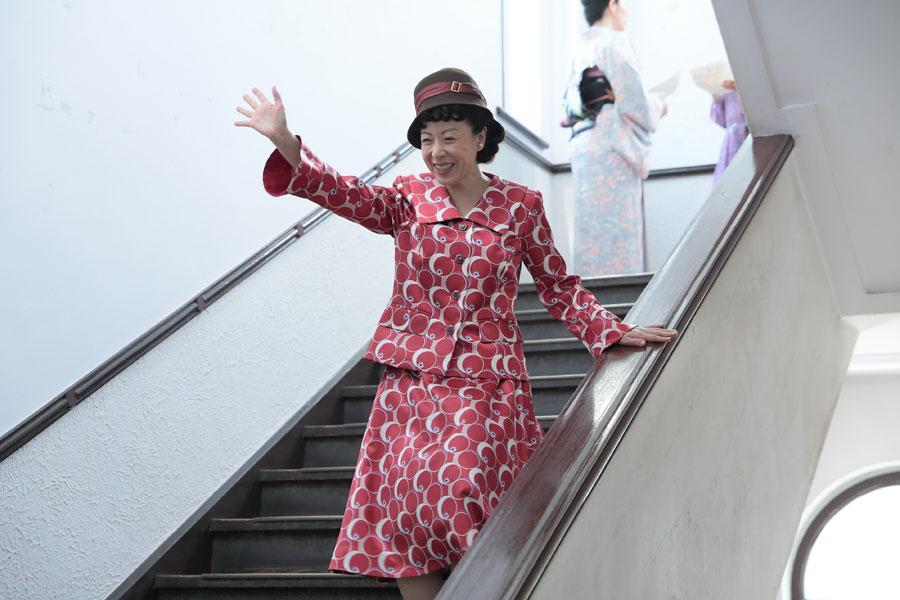 『スカーレット』のワンシーンより。「大阪ことばの会話のテンポの良さや面白さが伝われば」と羽野晶紀