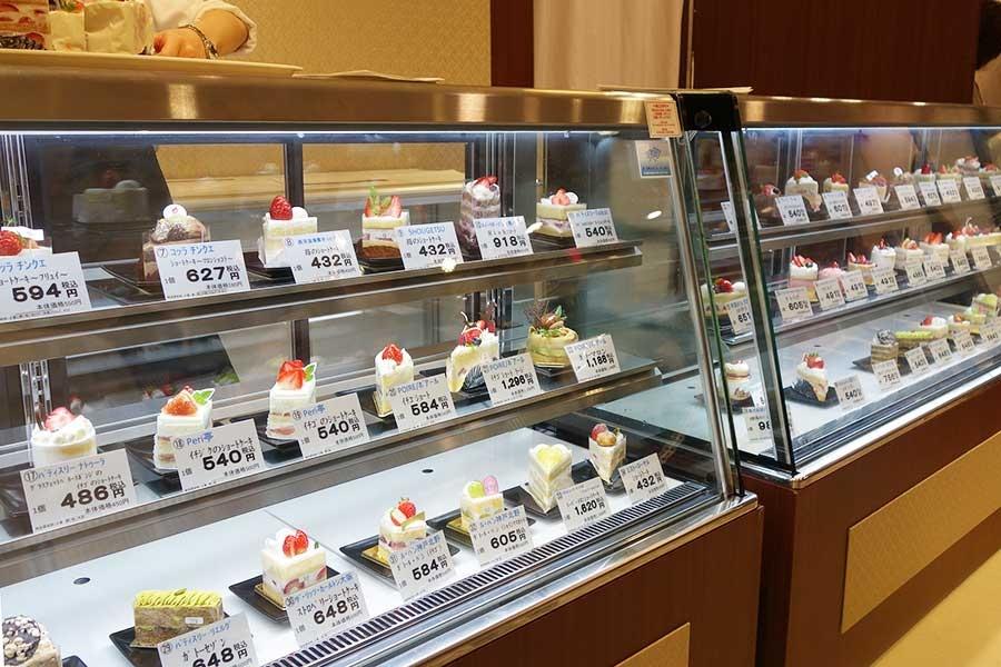 2018年の際の「関西ショートケーキセレクション」コーナー