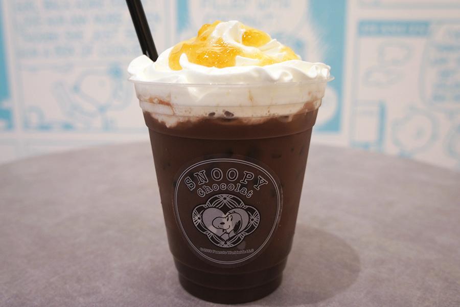 「柚子チョコレートドリンク」(572円)は、ホットとアイス2種類を用意
