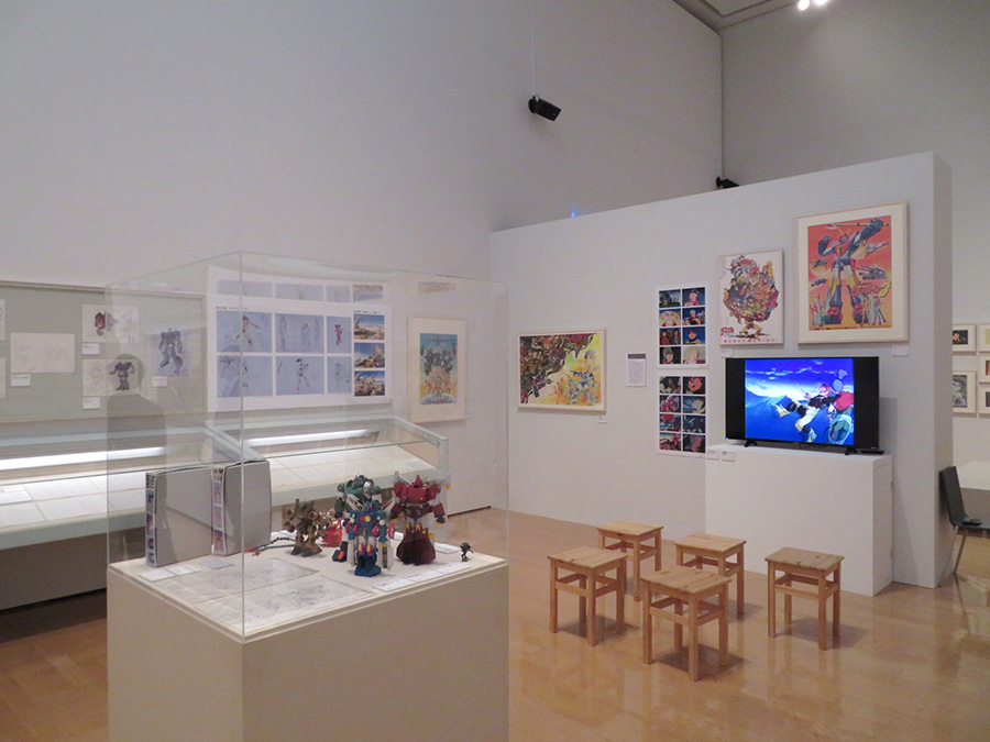 『富野由悠季の世界−ガンダム、イデオン、そして今』展 会場風景