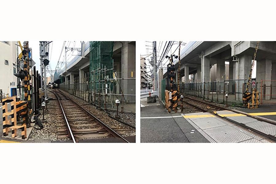 阪神電車「青木駅」(神戸市東灘区)の旧地上線路
