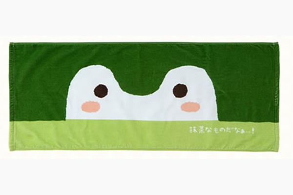 コウペンちゃん 抹茶なものだなあ・・・フェイスタオル(1900円・税別)