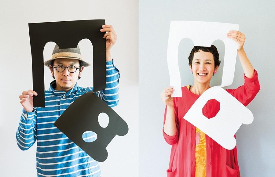 左:亀山達矢 右:中川敦子 ©tupera tupera