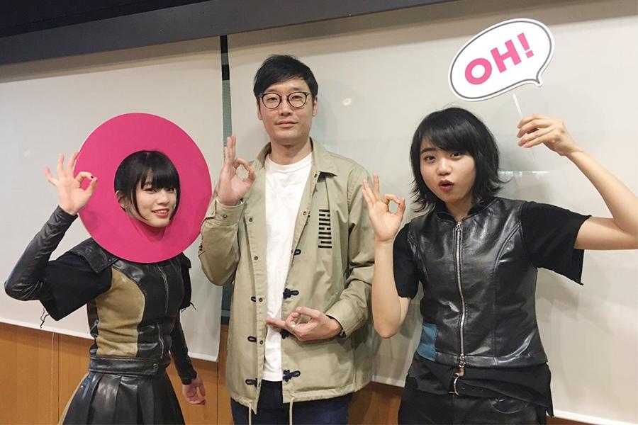 左から、イトー・ムセンシティ部、DJの遠藤淳、チャントモンキー(7日・大阪市内)