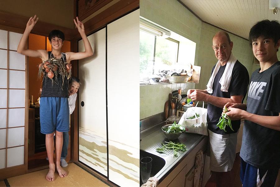 畑が多く、食材豊かな淡路島の魅力も家族で満喫。「ベイリーズ・ピッツェリアアンドカフェ」で使用するのも近隣の農家の野菜だ