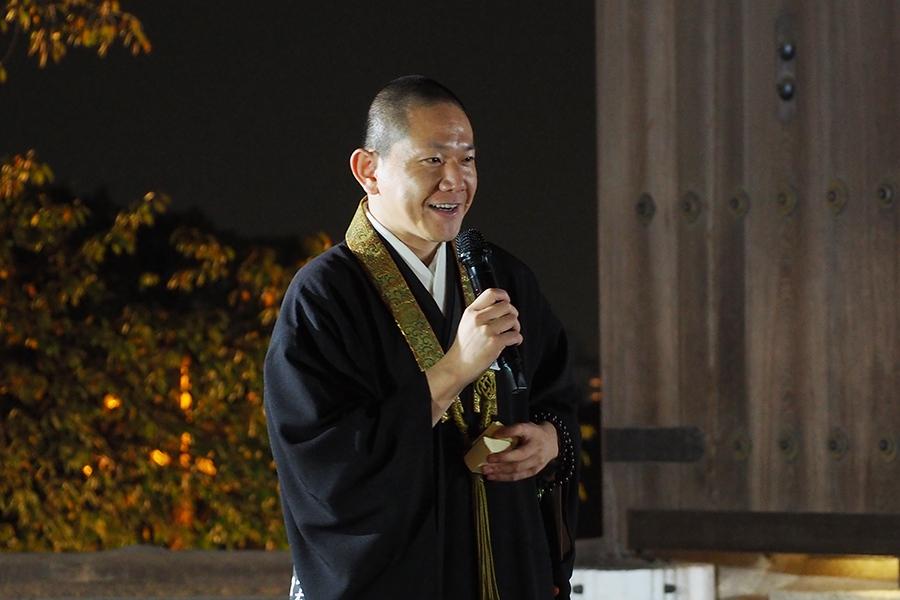 PR動画ではラップに初挑戦した知恩院 僧侶・磯部さん