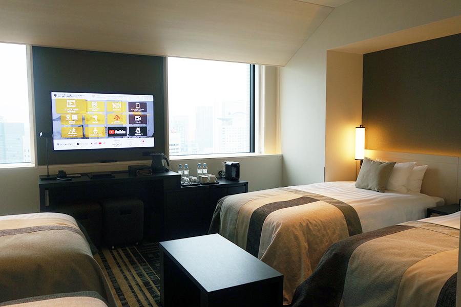 フォース部屋は4人で宿泊可。ツインやトリプルはコネクティングタイプもあり