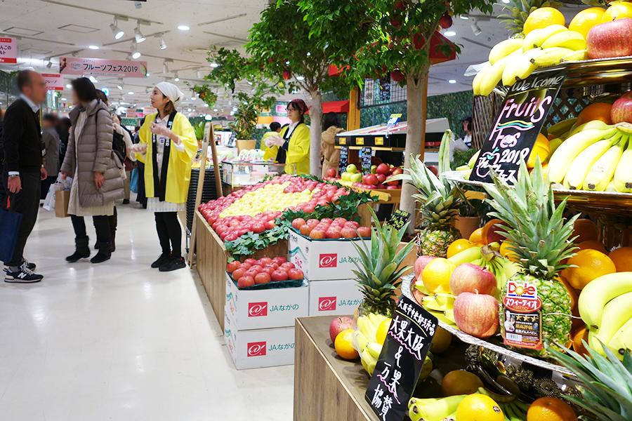 「阪急うめだ本店」で初めて企画された『阪急フルーツフェス』会場