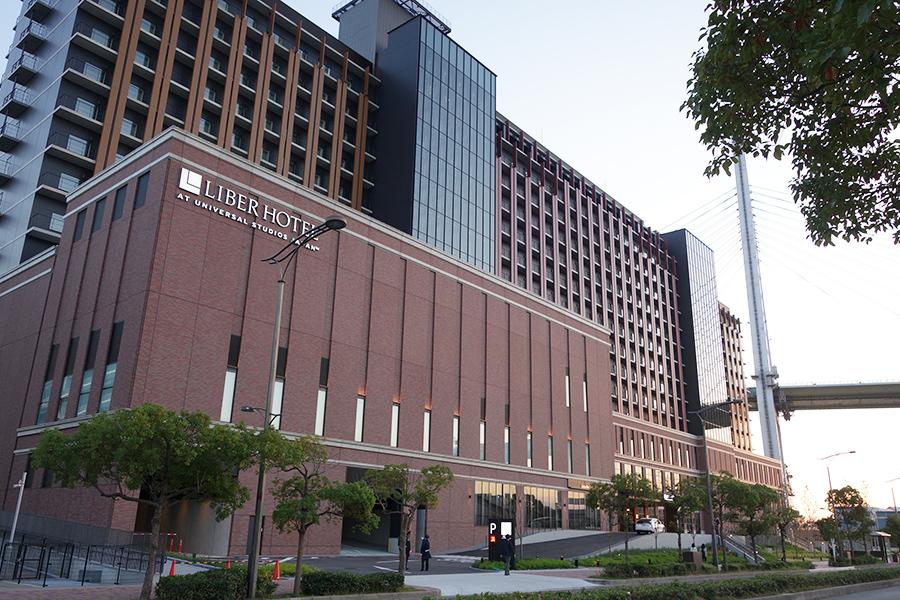 JR桜島駅の目の前、「リーベルホテル アット ユニバーサル・スタジオジャパン」