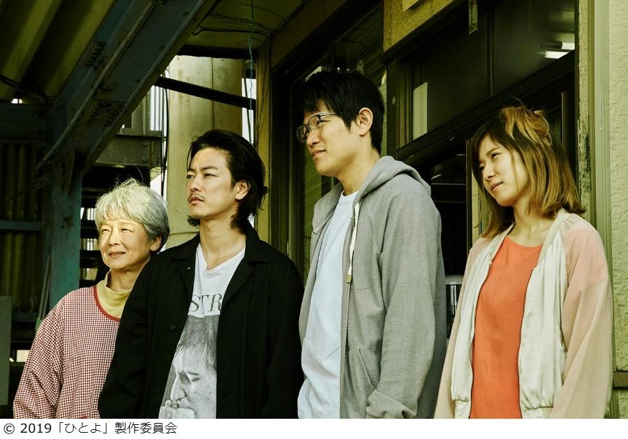 左から、田中裕子、佐藤健、鈴木亮平、松岡茉優