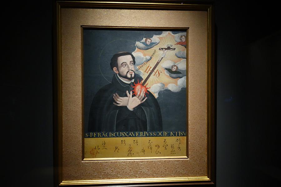 2階の「コレクション展示室」で展示される重要文化財「聖フランシスコ・ザビエル像」江戸時代時、17世紀前期