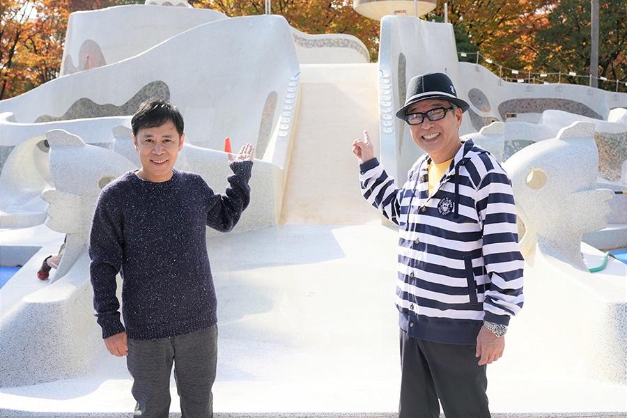 左から岡村隆史、円広志