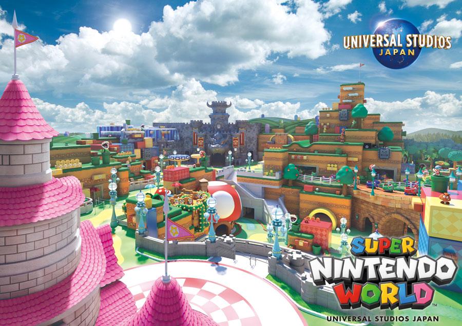 公開された壮大なエリア『SUPER NINTENDO WORLD』イメージビジュアル ©Nintendo