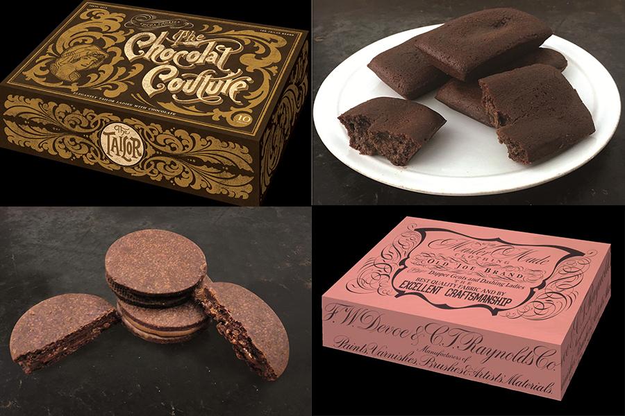写真左側が「ザ・ショコラクチュール」、右側が「ザ・フォンダン ショコラフィナンシェ」
