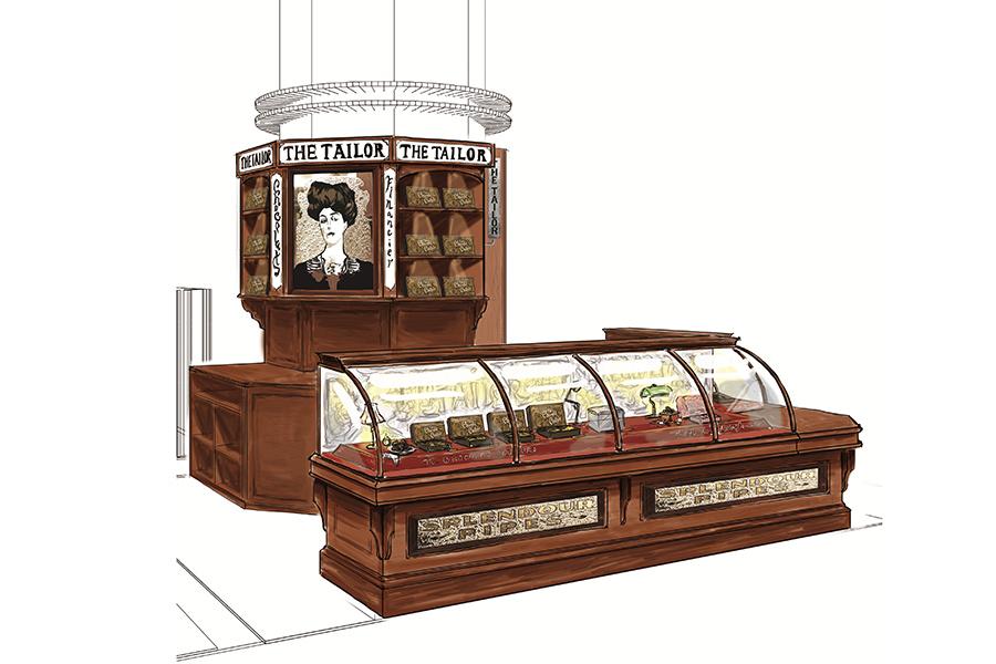 ヨーロッパの老舗パティスリーのような店舗デザインを予定(イメージ図)