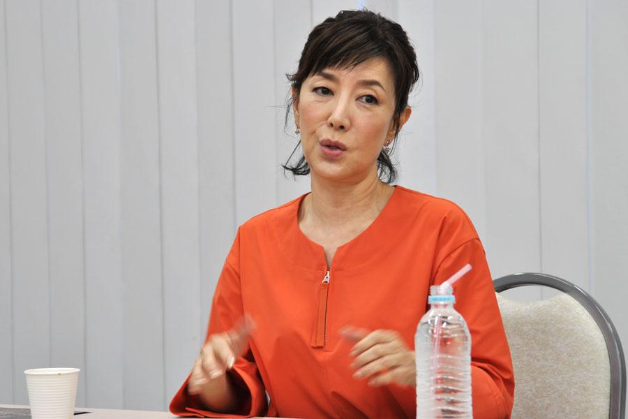 初演時は期間が短く、「観た人が限られたのが心残りだった」と戸田恵子(10月25日・大阪市内)
