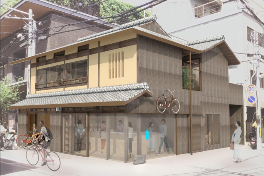 「ブルーボトルコーヒー 京都六角カフェ」パース