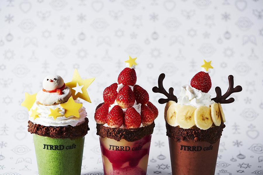 「ジェイティード」のの限定スムージー。左から、Snowman、Santa、Tonakai(写真はイメージ)