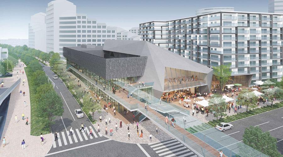 地下鉄「西神中央駅」周辺に新設される文化・芸術ホールのイメージ 提供:神戸市