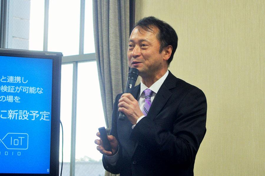 モネの代表取締役社長兼CEO・宮川潤一氏(12月3日・大阪府庁)