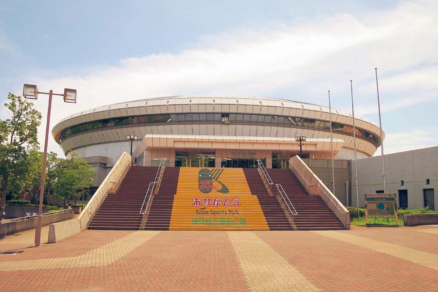 体操のフランス代表チームがオリンピック事前合宿をおこなう「グリーンアリーナ神戸」 提供:神戸市
