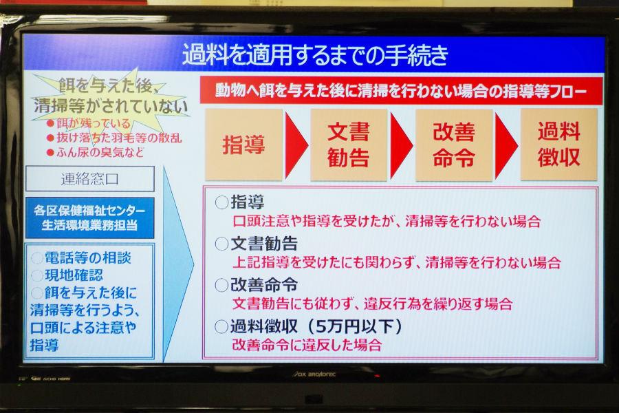 過料を適用するまでの手続きについて(12月13日・大阪市役所)