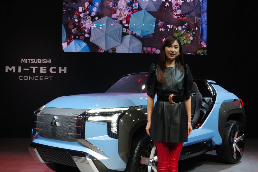 MITSUBISHIの電動SUV「マイテックコンセプト」。『大阪モーターショー』より(12月6日・インテックス大阪)