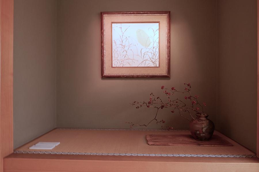 「武蔵野」1952年。絵画も手がけた。陶磁器への絵付け同様、ふくよかな筆致