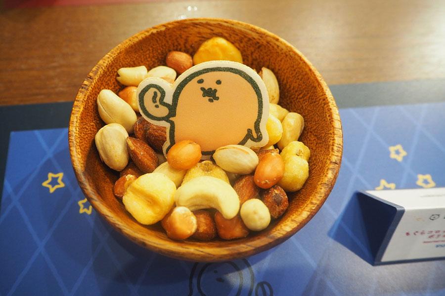 (バーメニュー)「もぐらコロッケのタンパク源!ポリポリナッツ」(500円・税別)