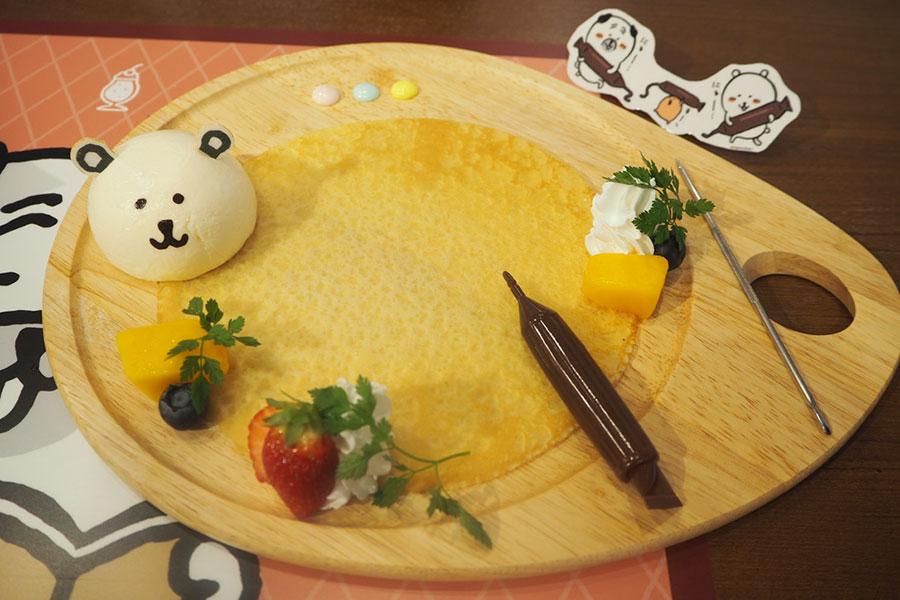 「みんなで描こう! 自分ツッコミくま喫茶お絵かきクレープ」(1690円・税別)