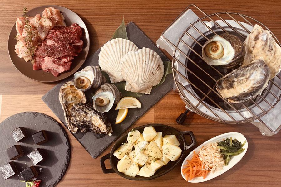 牡蠣食べ放題のプラン例