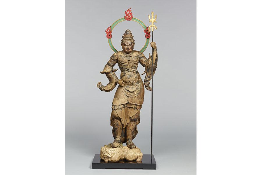 毘沙門天立像 木造 彩色・漆造 像高99.8cm 平安時代(12世紀) 滋賀・高尾地蔵堂
