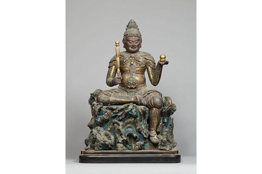 重要文化財 毘沙門天坐像 木造 彩色・漆造 像高79.9cm 平安時代(12世紀) 京都・清涼寺