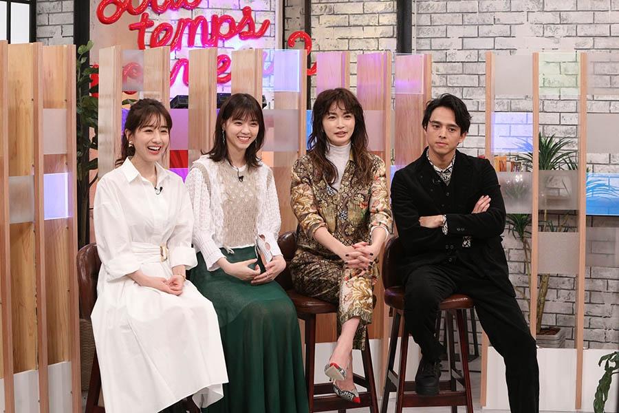 左から、田中みな実、西野七瀬、長谷川京子、満島真之介