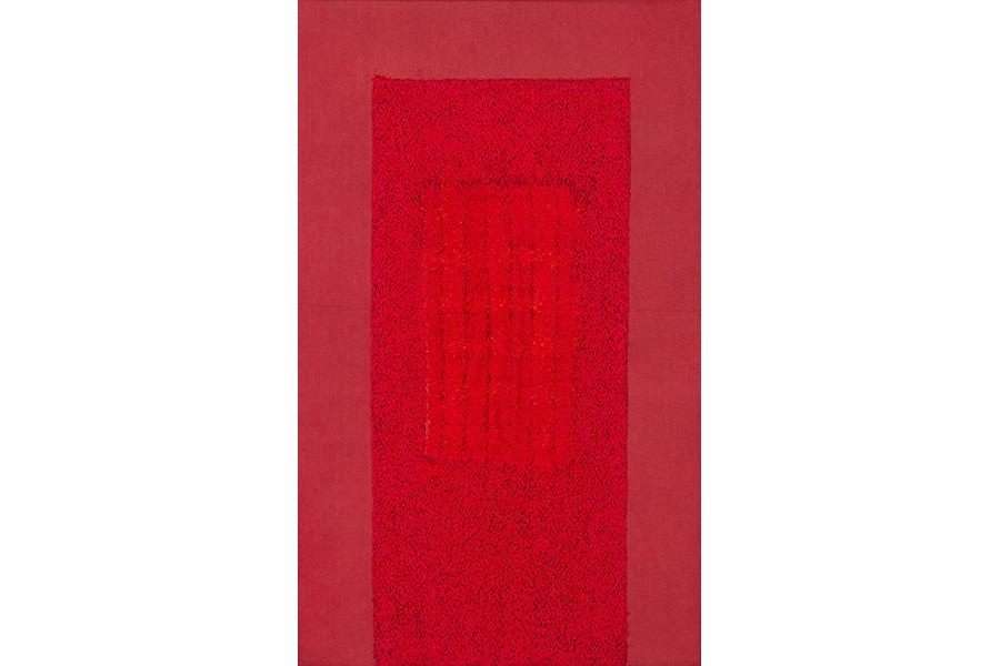 上前 智祐《縫(赤)》1982 大阪府20世紀美術コレクション