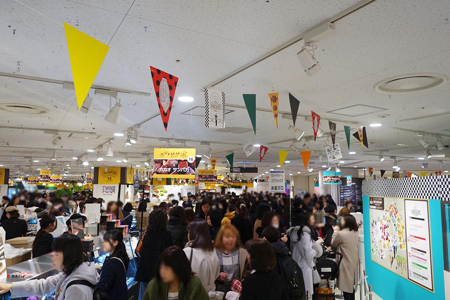 5分で完売も、バレンタイン商戦が阪急で開幕