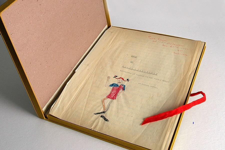 オリジナル原画、初版本、リンドグレーン愛用品などが展示される