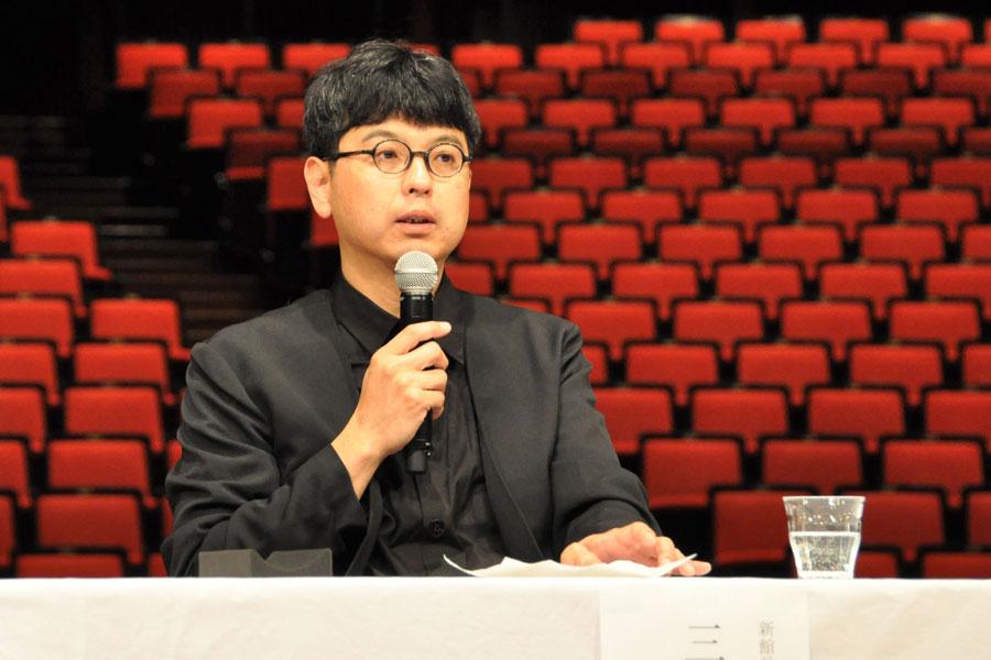「ロームシアター京都」の新しい館長に就任した演出家・三浦基(1月16日・ロームシアター京都)
