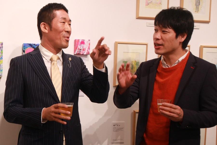 「今年は大河に呼ばれるくらい頑張りたい」と声をそろえる麒麟の田村裕(左)と川島明(1月10日・大阪市内)