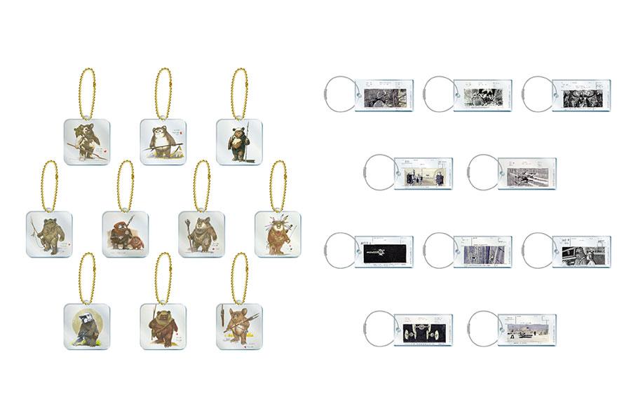 左から<イウォーク>アクリルキーホルダー(ランダム10種/800円・税別)、アクリルキーホルダー(ランダム10種/700円・税別)
