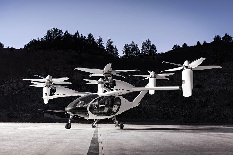 Jobyが開発に取り組み、将来は空飛ぶタクシーサービスの提供を目指すeVTOL
