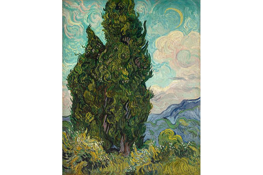 フィンセント・ファン・ゴッホ《糸杉》 1889年6月 油彩・カンヴァス 93.4×74cm メトロポリタン美術館 Image copyright ©The Metropolitan Museum of Art. Image source:Art Resource. NY