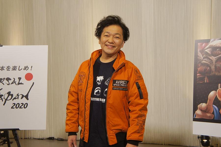 興奮気味にアトラクションの感想を語った山口勝平(20日/ユニバーサル・スタジオ・ジャパン)