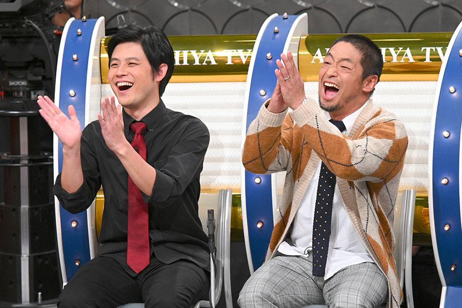 (左から)オジンオズボーン篠宮暁、安田大サーカス・団長安田(写真提供:MBS)