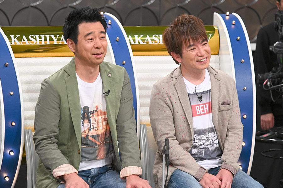 「劇場でネタがすべってもそんなに気にならない」と松竹の良さを話す(左から)よゐこ有野、濱口(写真提供:MBS)