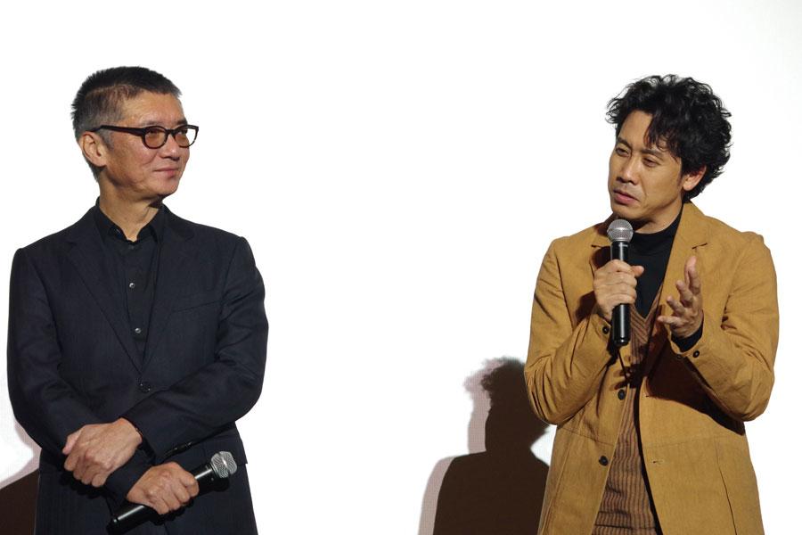 「どんどん面白くなっていく」と成島監督(左)の演出を絶賛した大泉洋(1月29日)